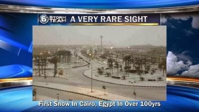 Salju turun di Cairo